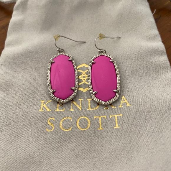 Kendra Scott Elle earrings pink/silver